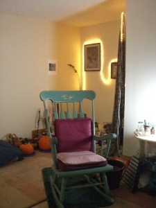 Inner room of my office. 2027 Broadway, Suite H, Boulder, CO 80302. Edie Stone, MA, LPC. Holistic Counselor and Psychotherapist.