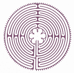Follow your own path, at your own pace. Despite the twists and turns, the labyrinth will always bring you back to your Sacred Center.