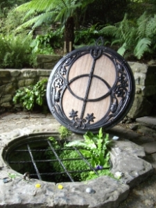 Chalice Well, Peace Garden, Glastonbury. Photo © 2008 Edie Stone